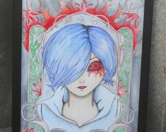 Art nouveau of Touka from Tokyo Ghoul