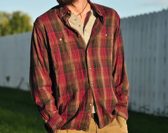 Earthy Tones Plaid Shirt