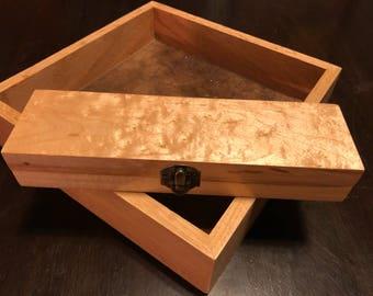 Quilt Maple Dice Box