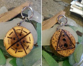 Ascension wood keychain