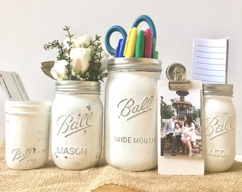Home Office Desk Accessories, Home Office Accessories, Office Gifts For  Women, Mason Jar