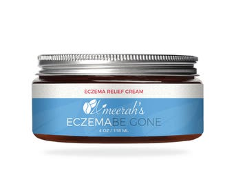 Eczema Be Gone Body Moisturizer Cream - 4 ozs - 100% Natural - Great for Psoriasis, Rashes, Rosacea, Dry Skin & Normal Skin