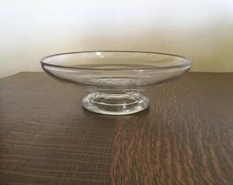 Antique Flint glass compote c 1850's