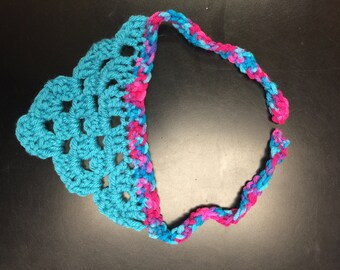 Small Hand crocheted dog bandana