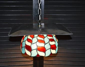 Stained Glass on Aluminum Tray Light