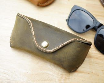 Leather case for glasses, handmade sunglasses case