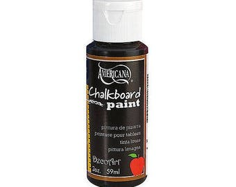 Americana Black Blackboard Chalkboard Paint 59ml (2oz) - DS90