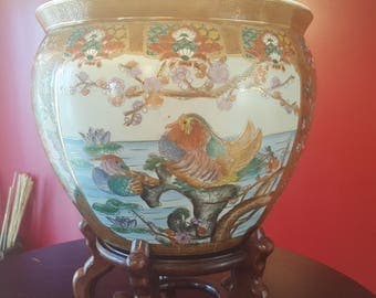 Antique Chinese Porcelain Fishbowl 20th Century