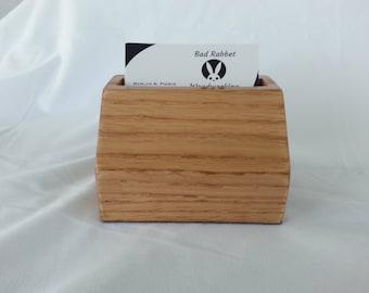 Oak Business Card Holder
