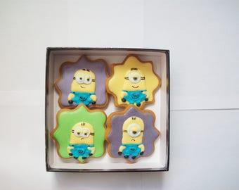 set of decorated cookies, children cookies gift