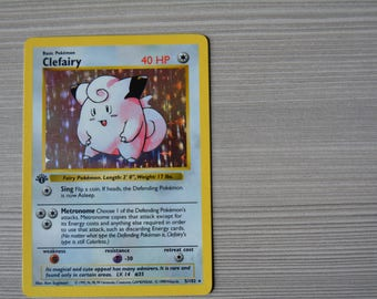 Rare****1ST Edition CLEFAIRY 5/102, Shadowless Base Set