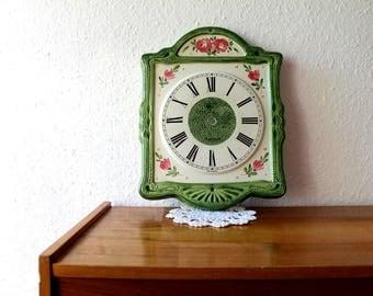 Vintage antique ceramic wall clock (without clock), eble quartz, West Germany