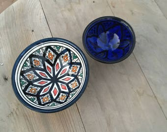 Authentic Berber ceramics, small appetizer dishes