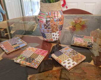 Coasters and Vase