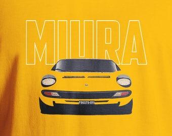 Lamborghini Miura T-Shirt, Classic Car T-Shirt, MiuraT-Shirt, Men's T-Shirt, Lamborghini, Car T-Shirt, Supercar T-Shirt, Miura T Shirt