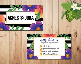 PERSONALIZED Agnes and Dora Business Card, Agnes and Dora Punch Card, Business Cards, Digital File AD06