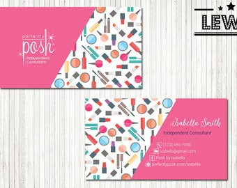 PERSONALIZED Perfectly Posh Business Cards, Perfectly Posh Style Card, Printable Digital Printed, Personalized Cards PH05