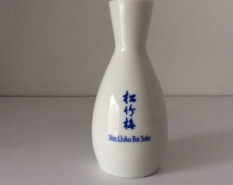 Sho Chiku Bai Sake Vessel | Vintage | Japan | Collectible
