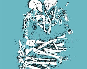 WITH LOVE XO. Digital Art. Burial. Love. Skeleton. Bones.