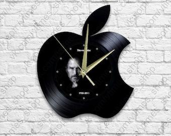 Apple - Vinyl - Wall clock - istore - Steve Jobs