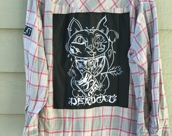 Lucky Dead Cat Flannel