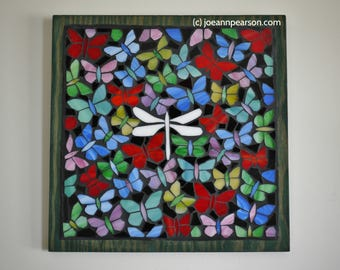 Stained Glass Butterfly Mosaic