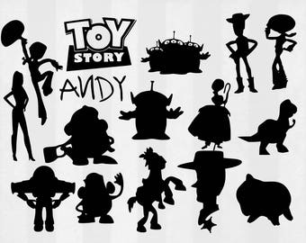 Toy Story SVG Bundle, Toy Story clipart, Toy Story cut files, svg files for silhouette, files for cricut, svg, dxf, eps, cuttable design
