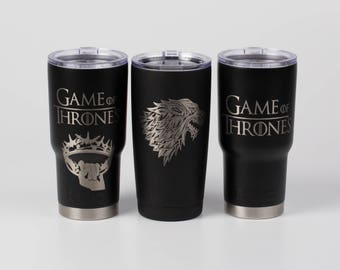 Game of Thrones Yeti, Custom Engraved Authentic Yeti, Personalized Yeti, Gift Idea, Winter is Coming, GOT Cup