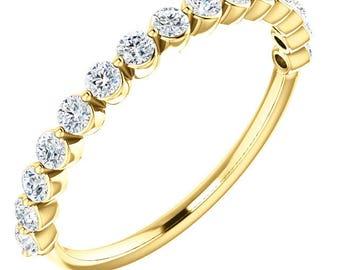 Diamond Anniversary Band Yellow Gold