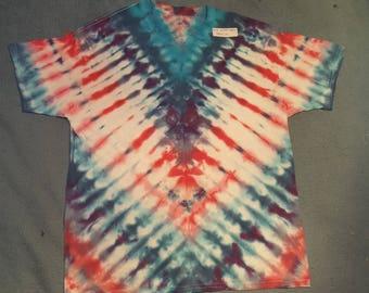 "tie dye t-shirt adult XL""winter dragon"""