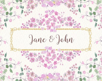 Watercolor wedding png clipart set clipart of watercolor. Ideal for printable, cards, posters, stickers, web and much more