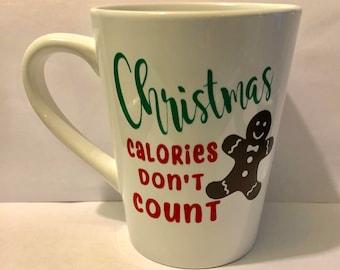 Christmas Calories Don't Count, coffee mug