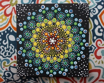 Colorful dots painting
