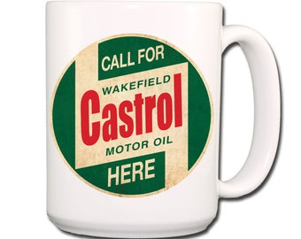 Castrol Oil Vintage Design Extra Large Coffee Mug 15 oz