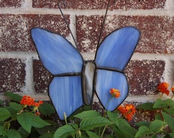 Beautiful light purple Stained Glass Butterfly