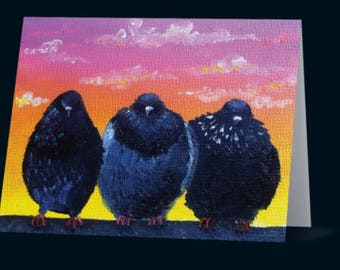 "Greeting Card- ""3 at Sunset"""