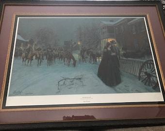 Mort Kunstler Wayside Farewell Civil War Print Signed COA