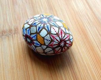 flower mosaic stone