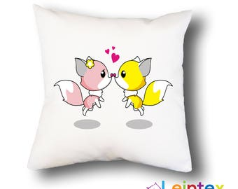 Pillowcase 40x40 pillow fox love No10
