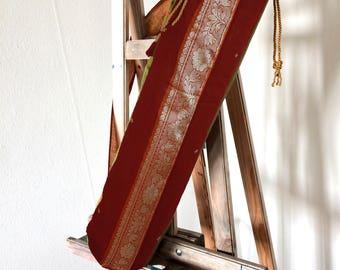 Yoga mat bag - made of indian sari