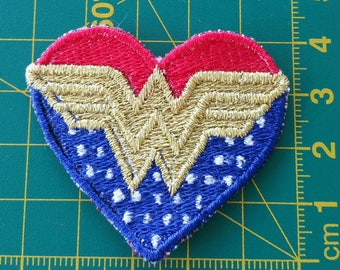 WONDER WOMAN PATCH - Assistance/Service dog embroidered patch - small size - sew on