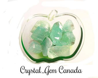 2 (two) beautiful Green Calcite, Raw Green Calcite. Decoration stone. Gemstone for relaxation and anxiety. Gemstone infused w Reiki