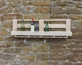 Pallet Wine Rack Reclaimed