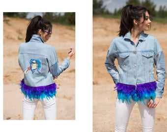 UPCYCLED JEANS JACKET