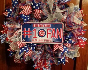 Chicago Cubs #1 Fan Wreath