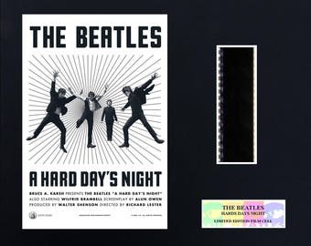 The Beatles A Hard Days Night 8 x 10 film Cell