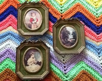 Set of Three-Vintage Illinois Moulding Co. Wall Plaque Set