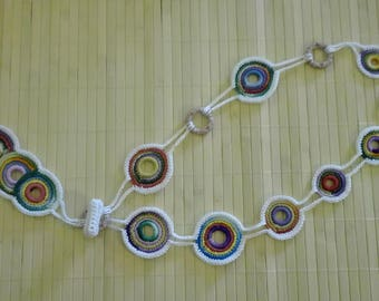 "100% cotton crochet necklace pattern ""Rosario"""
