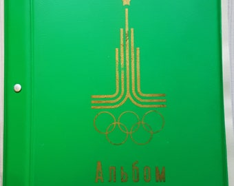 Vintage USSR Album for storage of badges Olympic Games in Moscow 1980