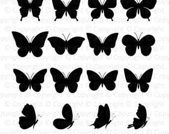 Butterflies Monogram digital clipart svg, dxf, png, eps, pdf files for cut Cricut Silhouette scrapbooking, stickers, craft, instant download